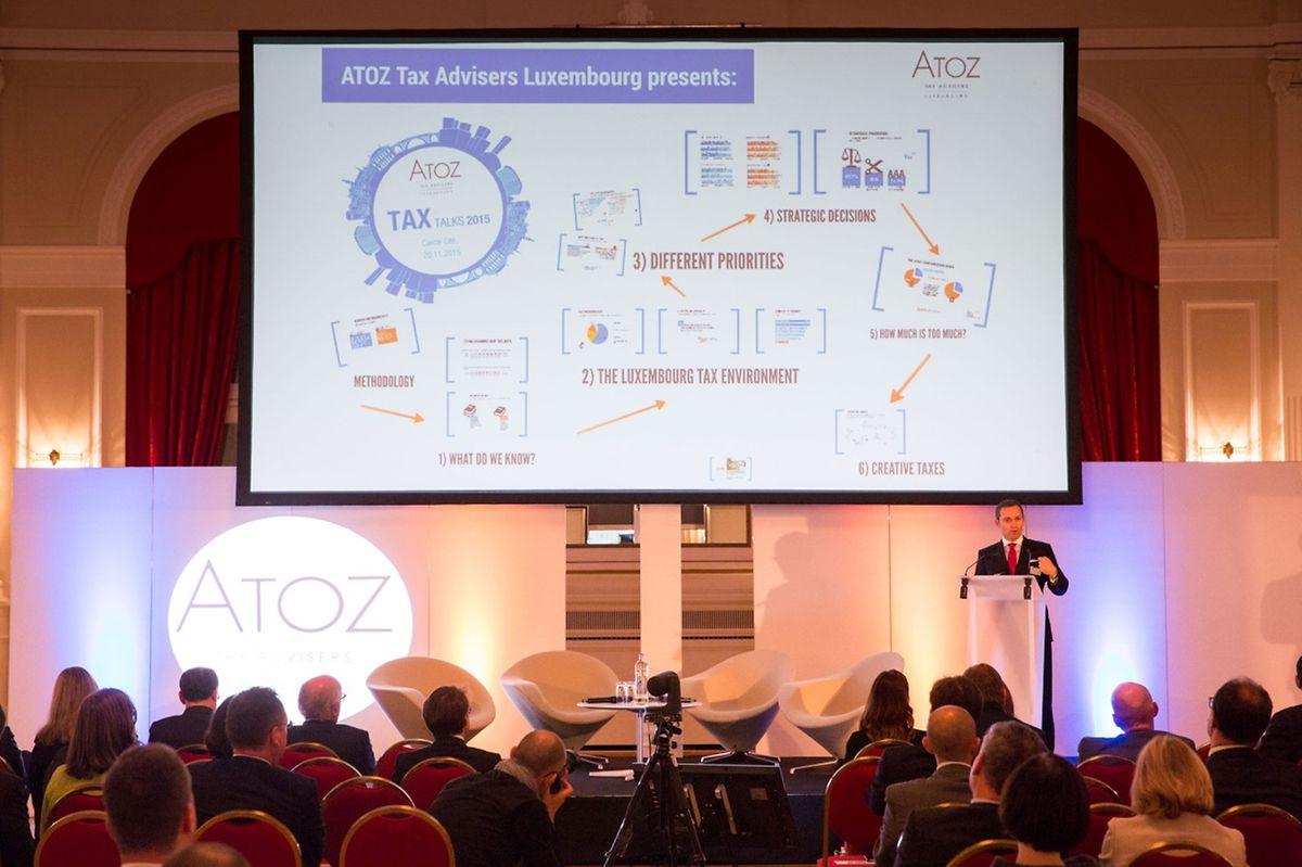 Im hauptstädtischen Cercle stellte Atoz die Ergebnisse seiner Umfrage zur Steuerreform vor.
