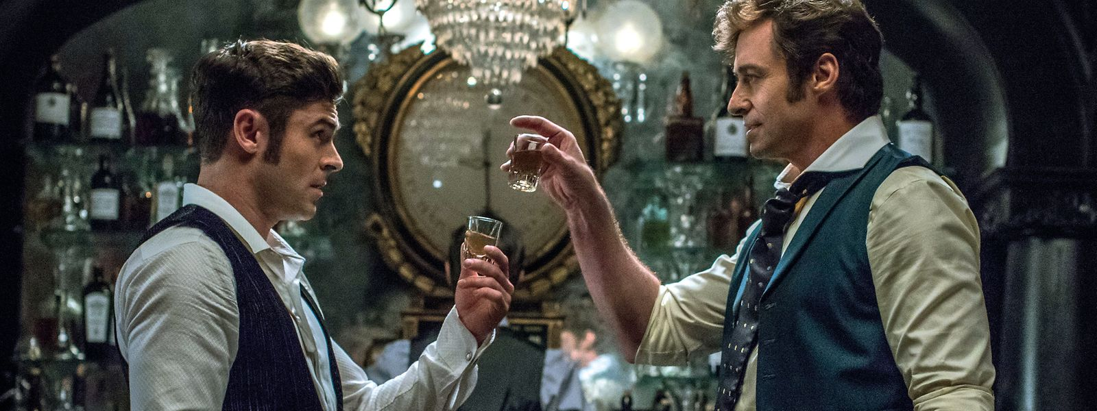 "Hugh Jackman et Zac Efron à l'affiche de ""The Greatest Showman"""