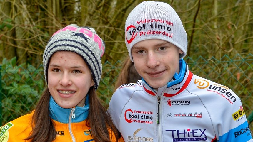 Marie Schreiber (CT Atertdaul) et Philippe Reuter (VV Tooltime), les deux champions de la catégorie des débutants.