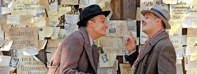 Moritz Bleibtreu (r.) spielt David Bermann, der nach dem Zweiten Weltkrieg den Trümmern entkommen will.