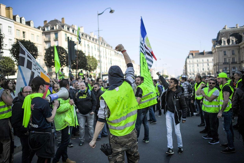Le mouvement des Gilets jaunes a été particulièrement suivi à Rennes, dans l'ouest de la France.