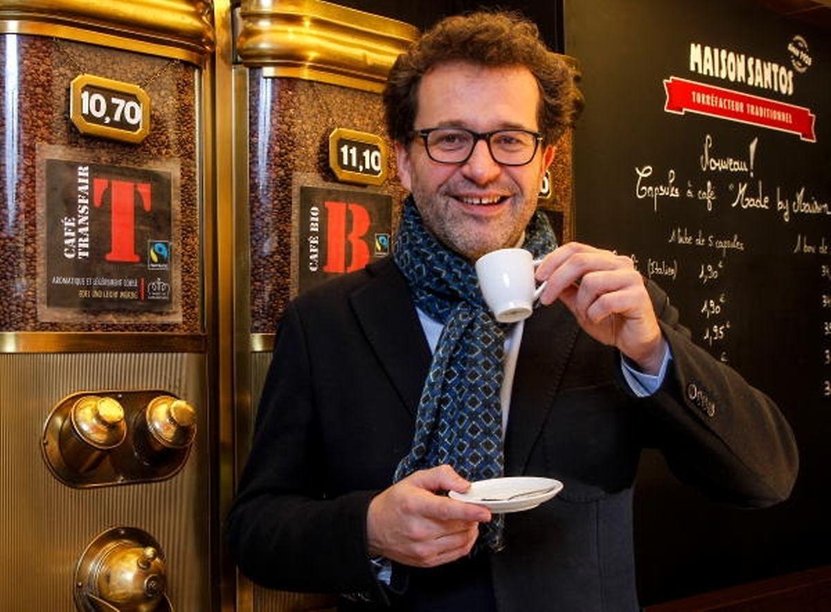 Jean-Louis Zeien (r.) engagiert sich in Luxemburg für Fairtrade-Kaffee.