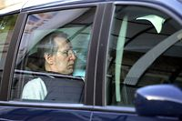 French self-confessed serial killer Michel Fourniret leaves the Charleville-Mezieres courthouse on May 7, 2008, in northern France. Fourniret, 65, is being tried, with his co-accused wife Monique Olivier, for the rape and murder of six young women and teenage girls in France and one in Belgium, who were aged between 12 and 21 and were either strangled, stabbed with a screwdriver or shot.  PHOTO AFP Alain JULIEN