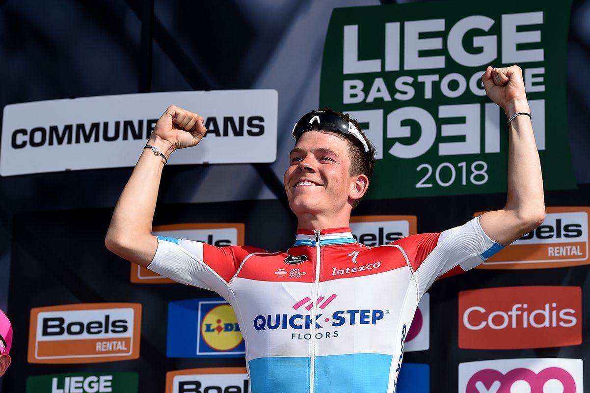 Bob Jungels (Quick-Step) gewinnt nach Marcel Ernzer und Andy Schleck als dritter Luxemburger Liège-Bastogne-Liège.