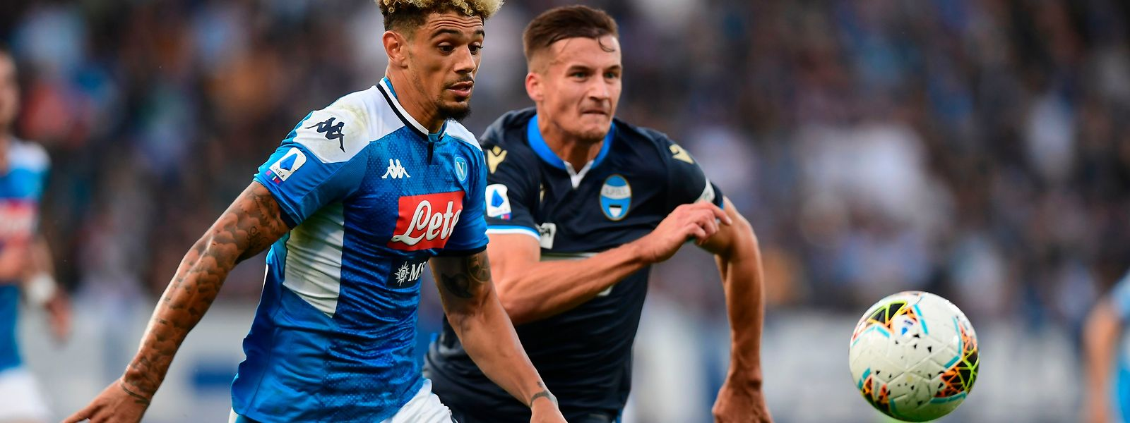 Naples et son défenseur français Kevin Malcuit (à g.) reçoivent les Autrichiens de Salzbourg, ce mardi soir dans le groupe E