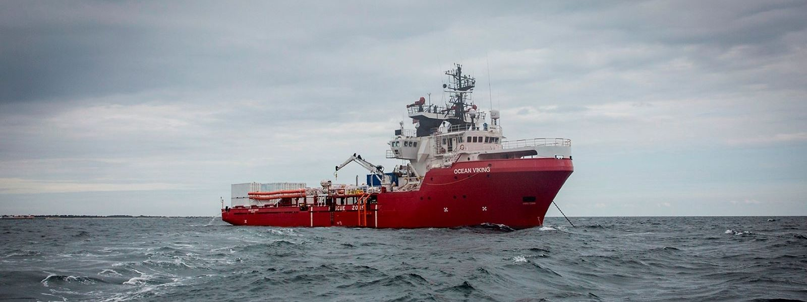 """Archivbild: Das norwegische Schiff """"Ocean Viking"""", sucht im Auftrag der französischen Hilfsorganisation """"SOS Mediterranee"""" Flüchtlinge vor der libyschen Küste."""