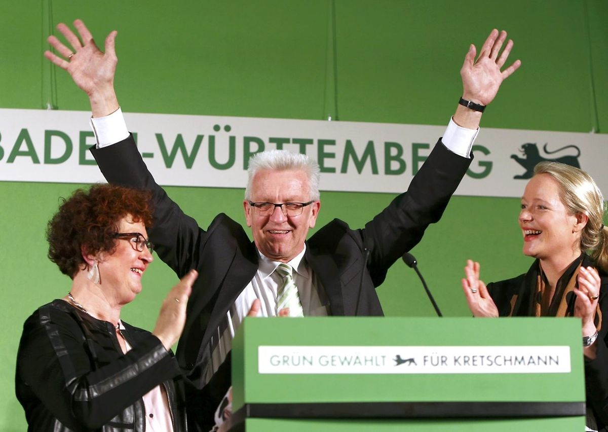 Erste Partei in einem Bundesland: historisches Ergebnis für den Grünen Winfried Kretschmann und Landesvater aus Baden-Württemberg.