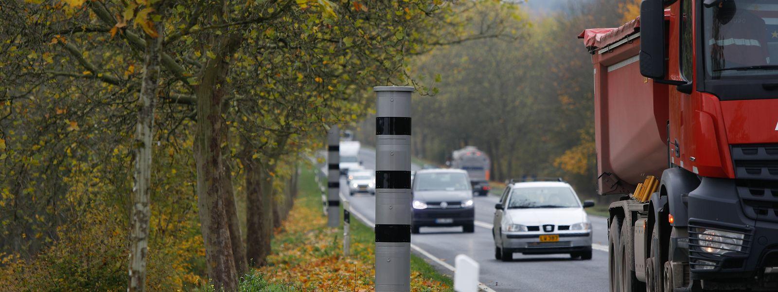 Le premier radar-tronçon du Luxembourg est en phase de test sur la N11 entre Waldhof et Gonderange depuis l'automne dernier