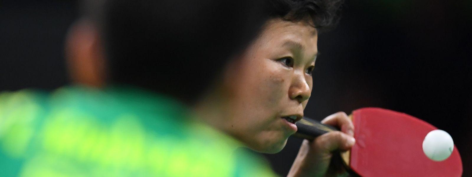 Ni Xia Lian traf in der ersten Runde auf eine starke Gegnerin.