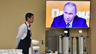 Der allgegenwärtige Staatschef: Wladimir Putin lud am Donnerstag zu seiner alljährlichen Pressekonferenz.