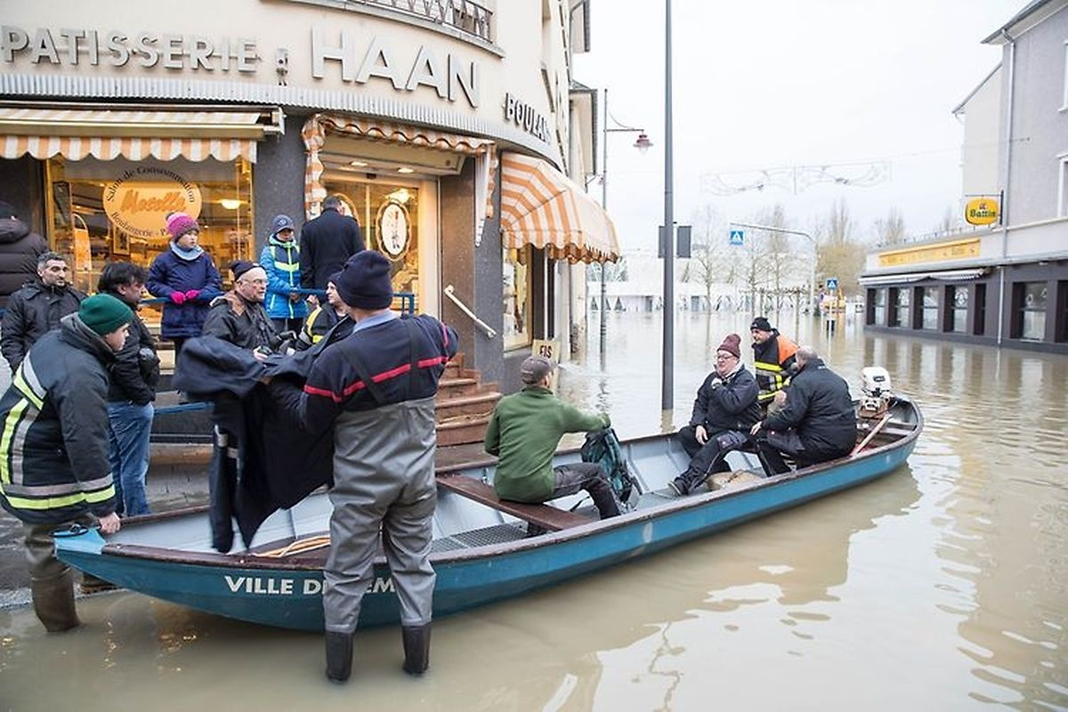 The best way to get around Remich on Sunday was by boat (Laurent Blum)