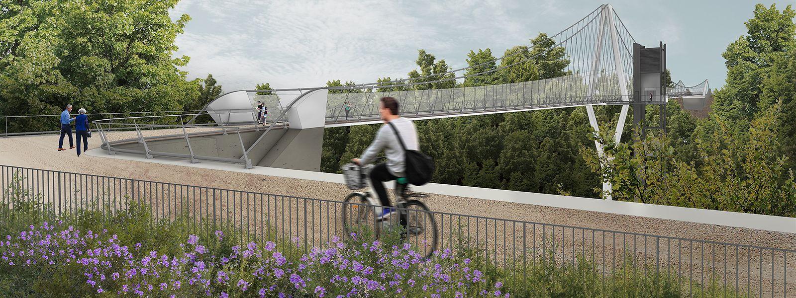 4,5 Meter Breite weist die Brücke auf.