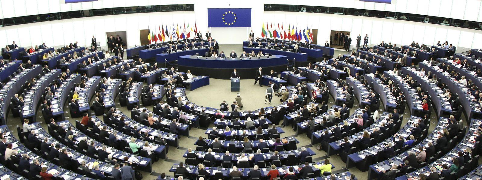 Der Plenarsaal des EU-Parlaments in Straßburg