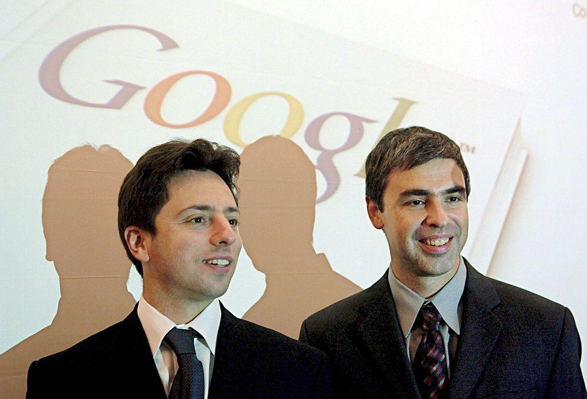Die Google-Gründer Sergey Brin (l) und Larry Page schufen ein Unternehmen, das heute zu den mächtigsten der Welt gehört.