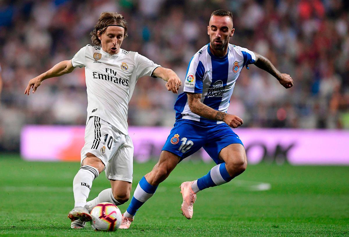 Luka Modric so wie man ihn kennt: Trickreich und mit der nötigen Präzision im Trikot von Real Madrid.