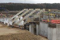 Die Arbeiten am nationalen Stadion schreiten schnell voran.