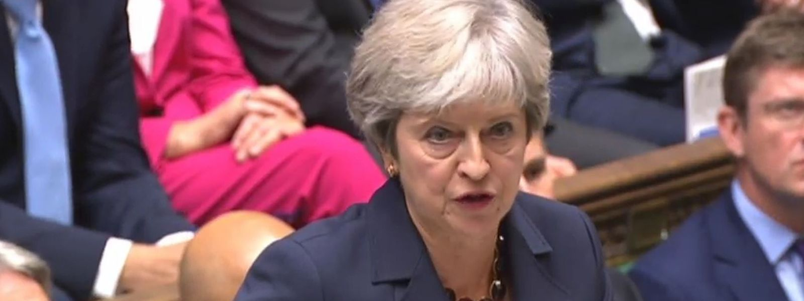 Theresa May, Premierministerin von Großbritannien, beantwortet die allwöchentlichen «Fragen an die Premierministerin» im Unterhaus.