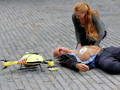 In the Netherlands, a defibrillator can be flown by drone to a patient who has suffered a cardiac arrest