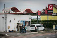 Raub Tankstelle Goedert Frisange, Foto Lex Kleren