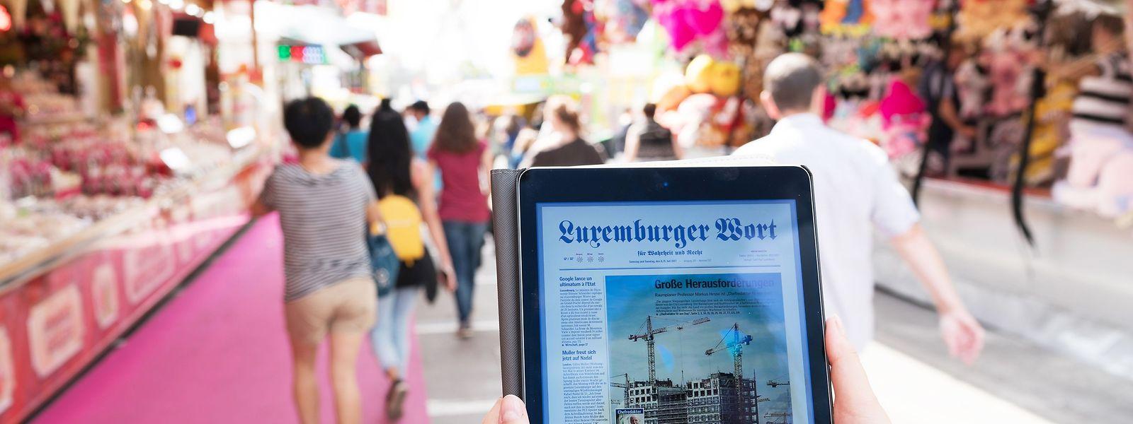 """Das """"Luxemburger Wort"""" erreicht 258.500 Leser und damit über zwei Drittel aller Luxemburger und mehr als die Hälfte aller Einwohner des Landes."""