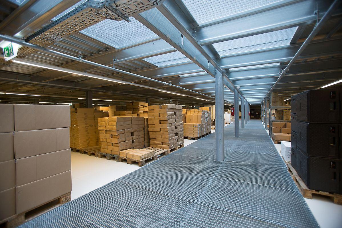 La première partie du hall, 4,8 millions d'euros, accueille toute la partie logistique du traiteur Steffen. Elle a été dessinée par Alleva Enzio Architectes et associés.
