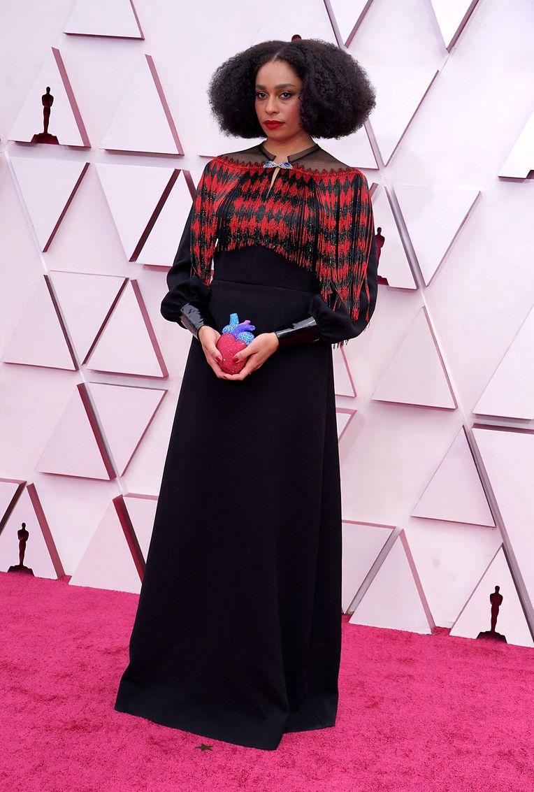 Trug das Herz in der Hand: Celeste Waite in Gucci.