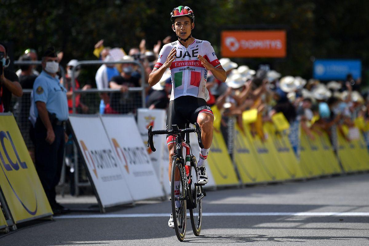 Davide Formolo rettete seinen Vorsprung ins Ziel.