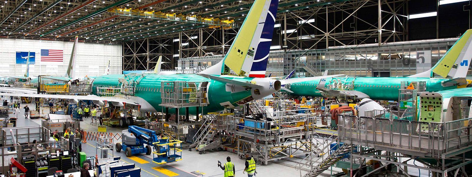 Blick in die Produktionshallen des 737 Max in den USA.