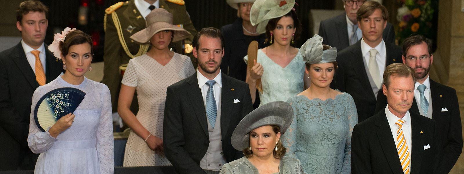 Die großherzogliche Familie während der kirchlichen Feier.
