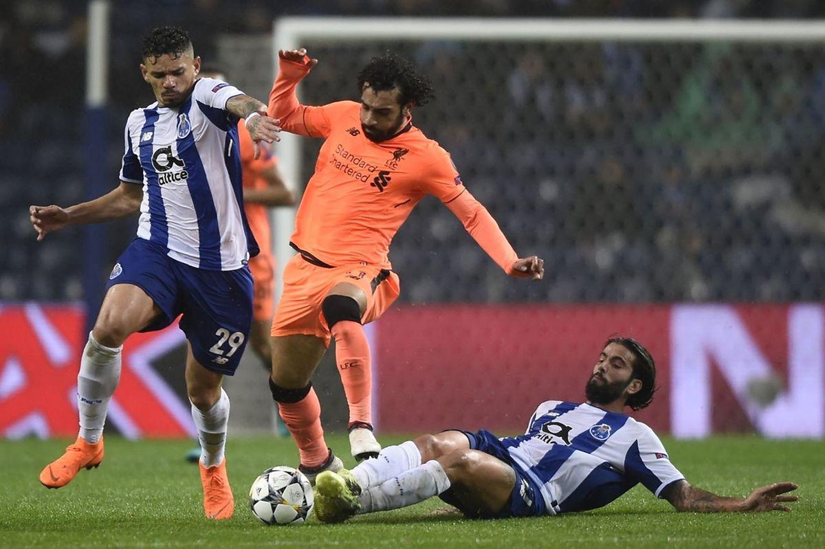 L'Egyptien Mohamed Salah (en orange), un poison pour Francisco Soares et les joueurs de Porto