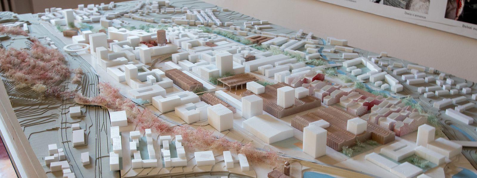 La maquette de l'Agora, pour le futur quartier des friches d'Esch/Schifflange