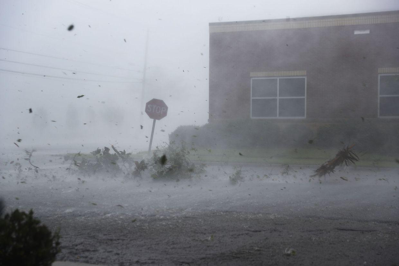 """Der Hurrikan """"Michael"""" erreichte am Mittwoch die Küste. Tausende Personen mussten evakuiert werden."""