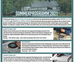 Summerprogramm am Schiefermusée