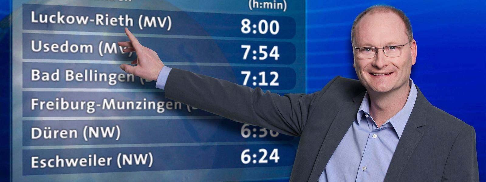 Sven Plöger präsentiert das Wetter im Ersten.