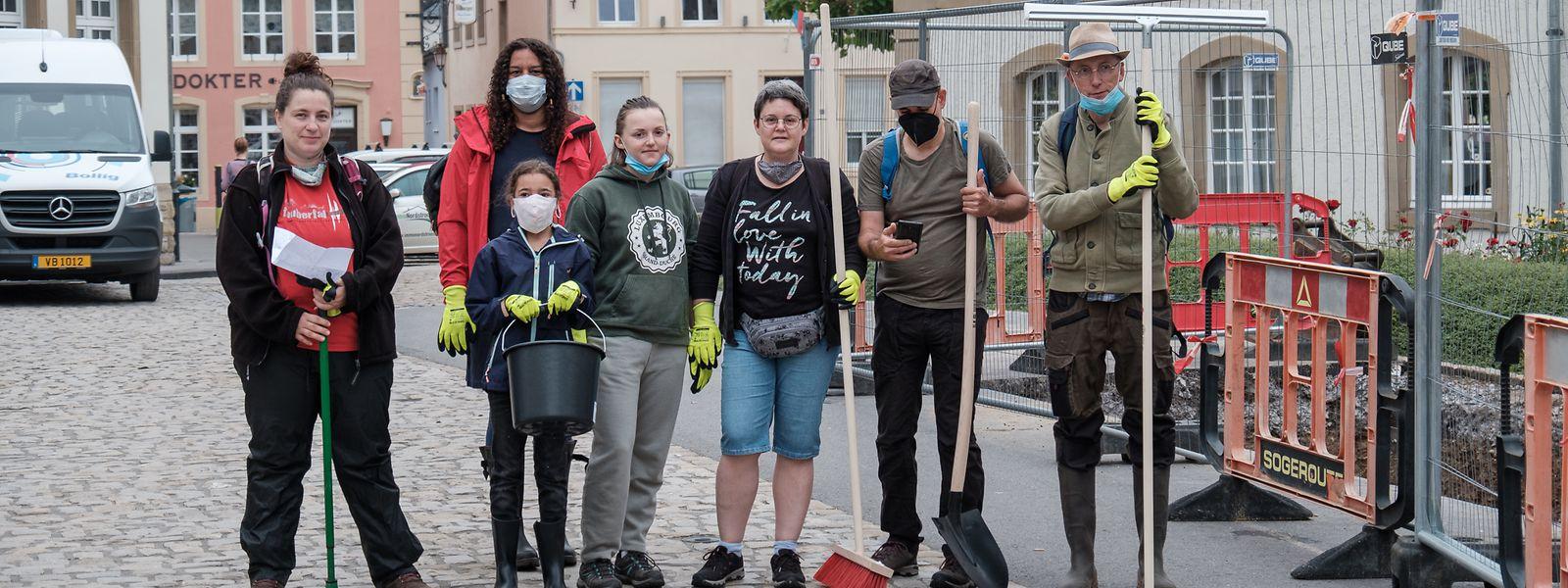 Les volontaires n'ont pas manqué d'affluer vers Echternach pour aider les habitants.