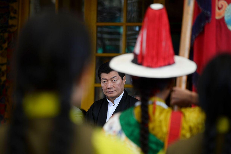 Lobsang Sangay, premier ministre du gouvernement tibétain, a célébré l'anniversaire en Inde où il est exilé.