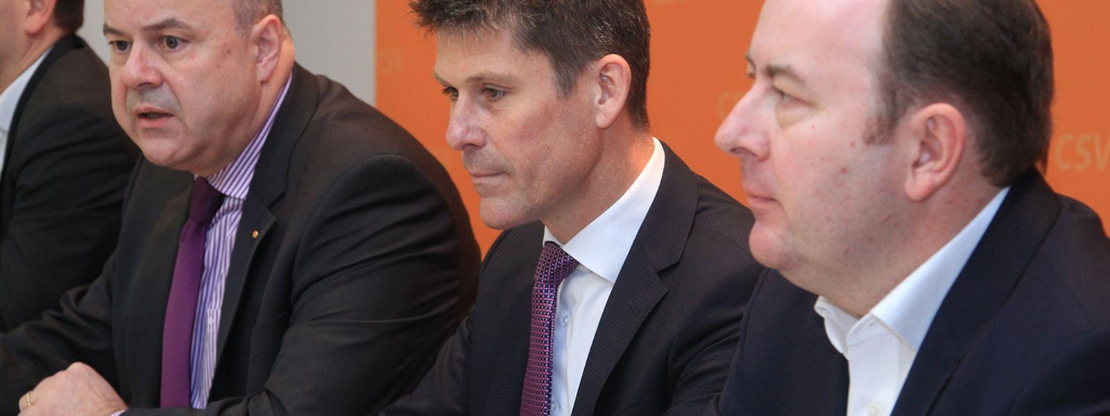 Marc Glesener (rechts) und Marc Thewes (Mitte) haben der CSV auf den Zahn gefühlt und präsentierten am Donnerstag die Ergebnisse ihrer Analyse.