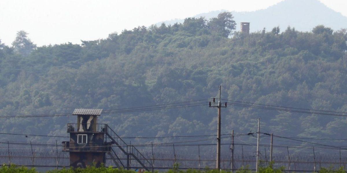 Ein Militärposten an der Grenze zwischen Süd- und Nordkorea.