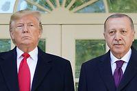 """Wenn """"sehr gute Freunde"""" sich treffen: Donald Trump (l.) und der türkische Präsident Recep Tayyip Erdogan."""