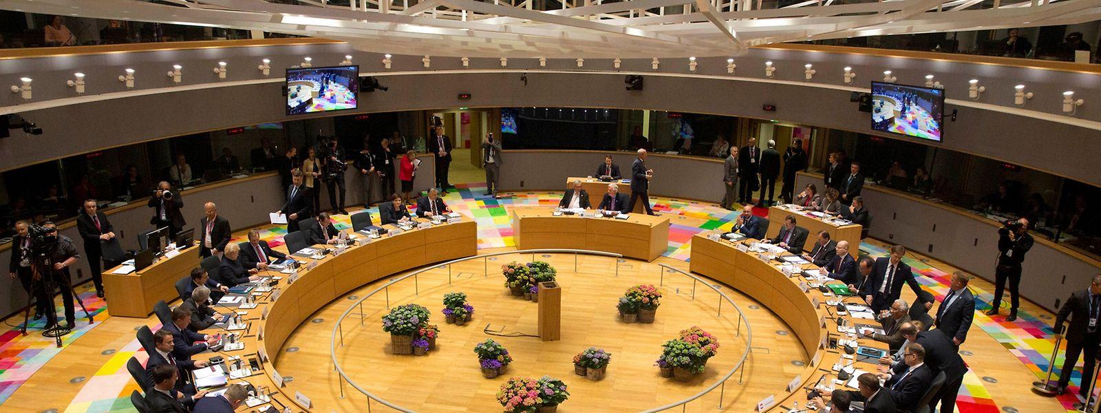 Die Staats- und Regierungschefs beim Sondergipfel in Brüssel.