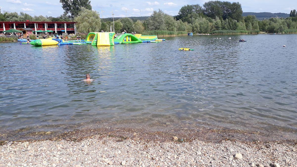 L'endroit où le 'rappeur' s'est noyé n'est pas loin des jeux aquatiques.