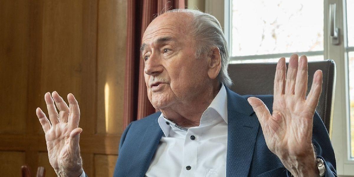 """""""Ich habe nie Geld bekommen"""", sagt Sepp Blatter."""