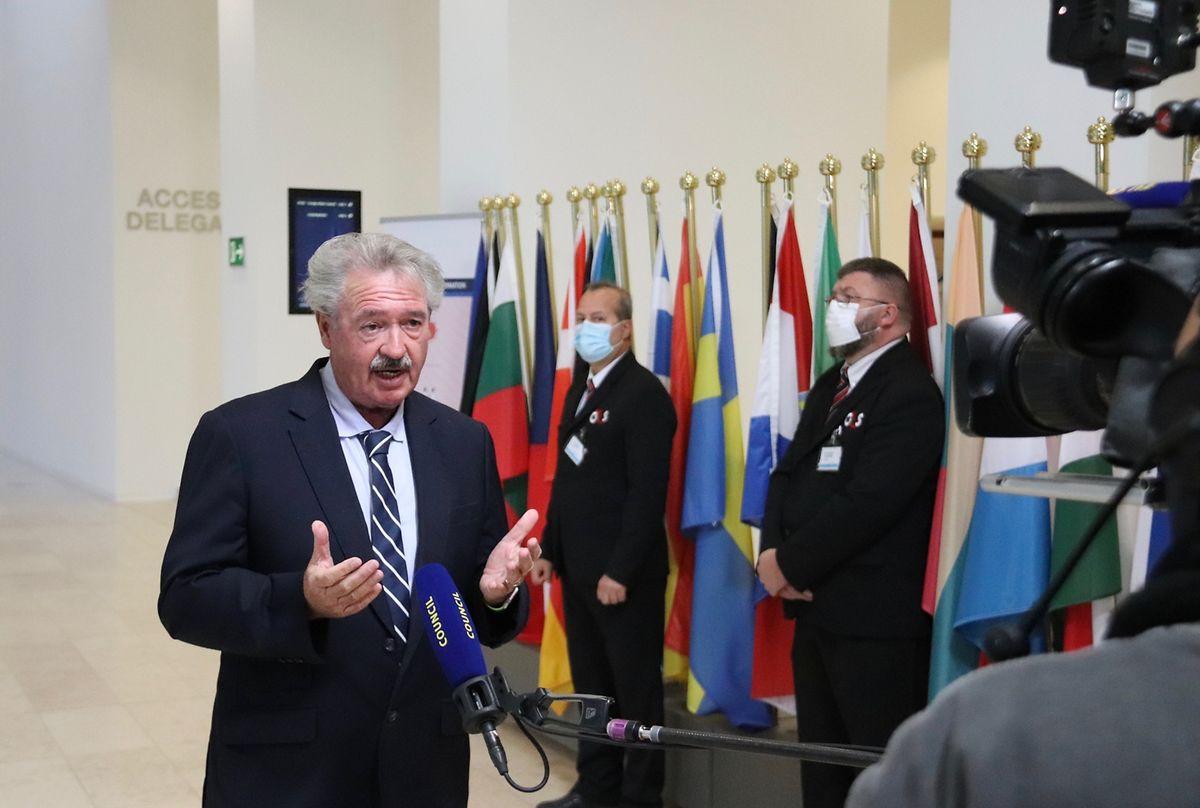 Außenminister Jean Asselborn nach dem Treffen der EU-Außenminister am Montag.