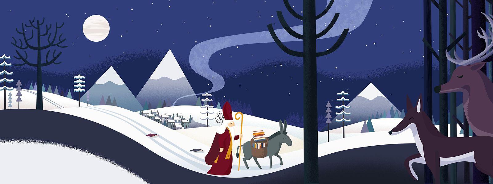 Noch zweimal schlafen, dann hat der heilige Mann seinen großen Auftritt. Der Nikolaus zieht durchs Land und die Kinder jauchzen.