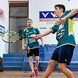 Squash - SC Güdingen - Sean Thrill (16) beim Training zusammen mit Nils Kempf (l.) - Foto: Serge Waldbillig