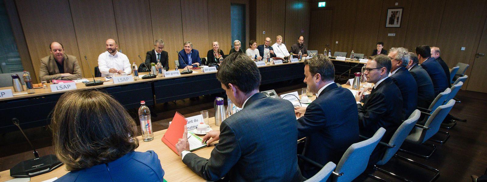 Runde 2 der Koalitionsverhandlungen: Finden DP, LSAP und Déi Gréng dieses Mal, trotz mehrerer Divergenzen, wieder den Konsens?