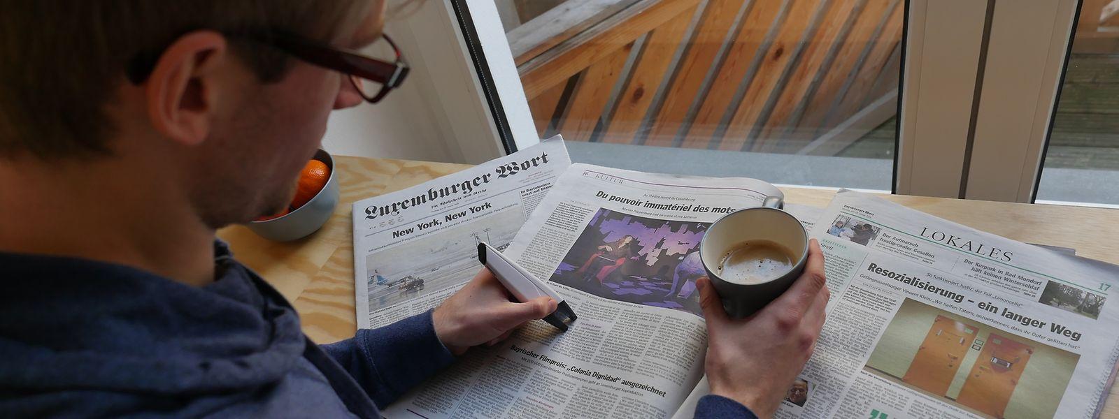 """Sieben Monate haben die Abonnenten des """"Luxemburger Wort"""" Artikel markiert."""