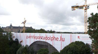 Chantier Luxembourg, pont Adolphe, le 25 aout 2015. Photo: Chris Karaba