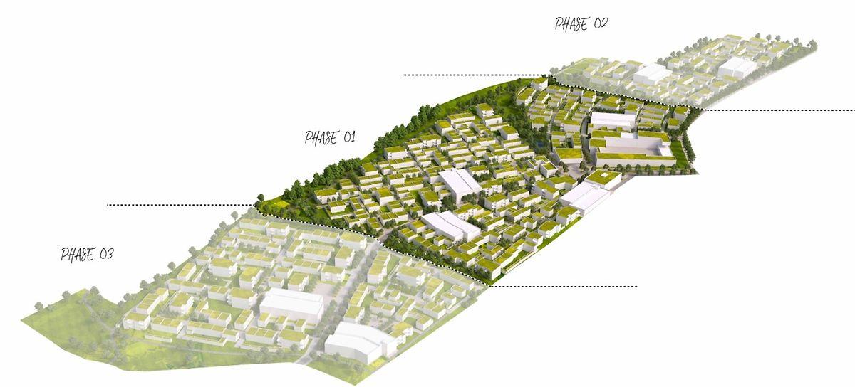 Elmen sera composé de trois «villages» au total. C'est le village central qui est en train de prendre forme.