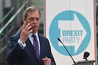 12.04.2019, Großbritannien, Birmingham: Nigel Farage, britischer Abgeordneter des Europäischen Parlaments für die Brexit-Partei, startet den Wahlkampf seiner Partei zum Europäischen Parlament. «Unsere Aufgabe und unsere Mission ist, die Politik unwiderruflich zu verändern», sagte der frühere Chef der EU-feindlichen Unabhängigkeitspartei Ukip. Foto: Joe Giddens/PA Wire/dpa +++ dpa-Bildfunk +++
